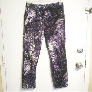 Calvin Klein Galaxy Print Work Dress Slack Pants